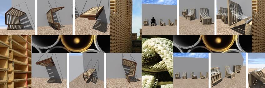 propuesta: mobiliario palets + pvc